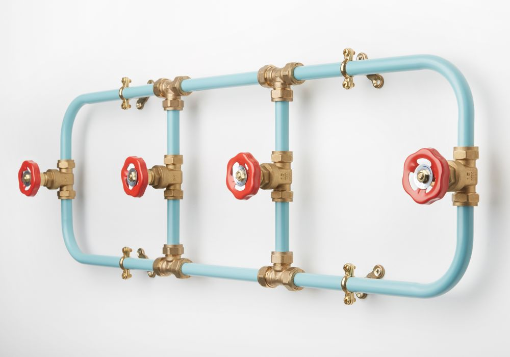 Pipework Coat Rack by Nick Fraser