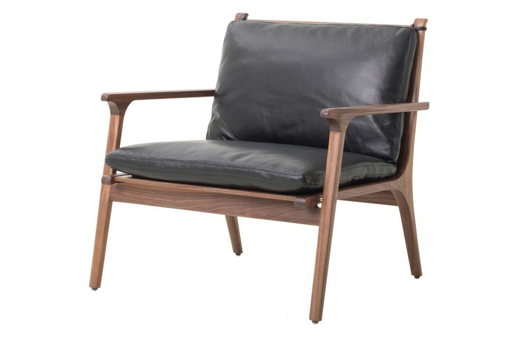 Black Ash, Leather Caress Black, Leather C,Stellar Works,Lounge Chairs