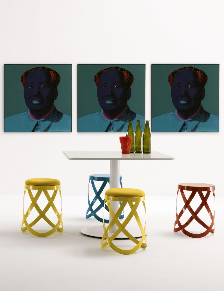 Stupendous Ribbon Low Stool From Cappellini Squirreltailoven Fun Painted Chair Ideas Images Squirreltailovenorg