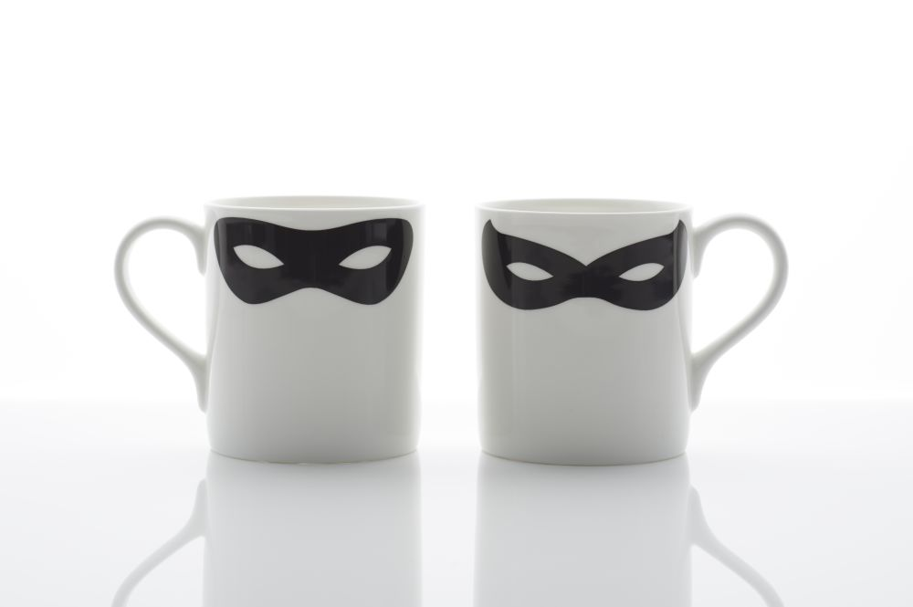 Robin Zorro Mask Mug by Peter Ibruegger Studio