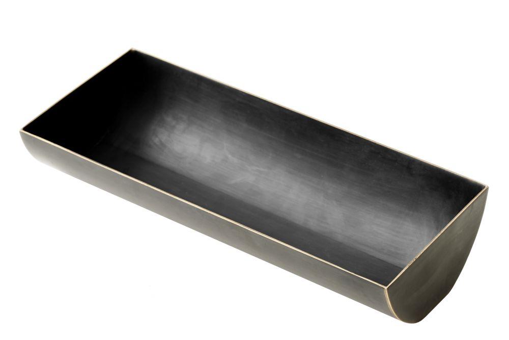 bronzed brass with polished edges,MENU,Trays