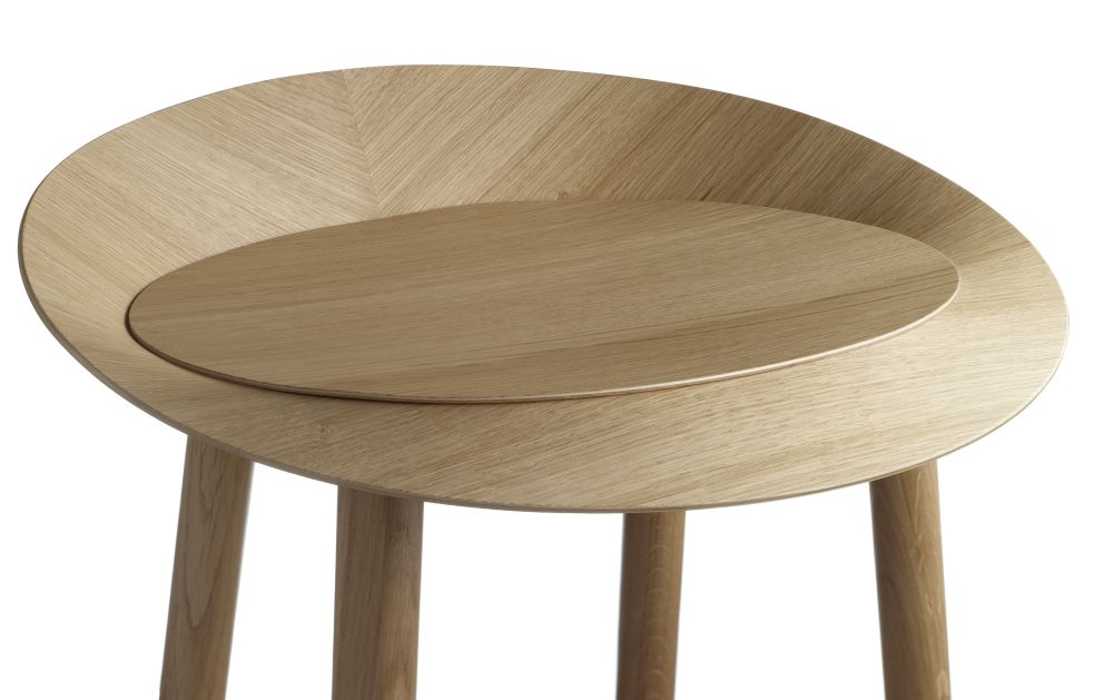 Neutral, Clear Lacquered Oak Veneer, Low,e15,Stools,coffee table,furniture,plywood,stool,table,wood