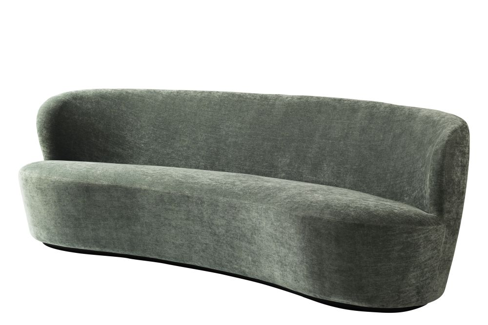 Stay Oval Sofa, Black Base by GUBI