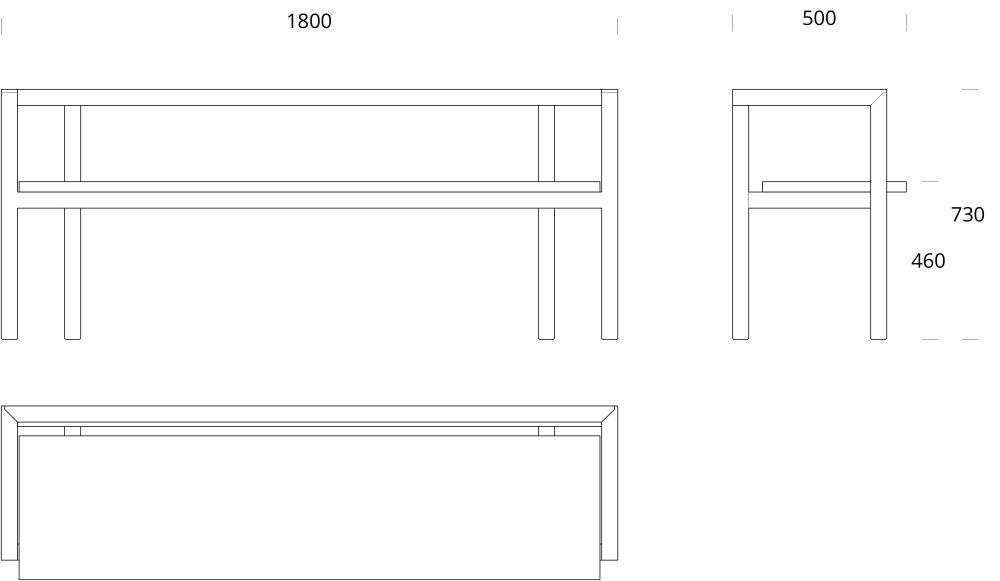 Storia Konstruktio Bench by Nikari