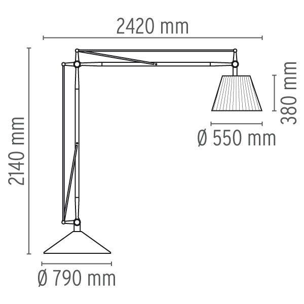 SuperArchimoon Floor Lamp by Flos