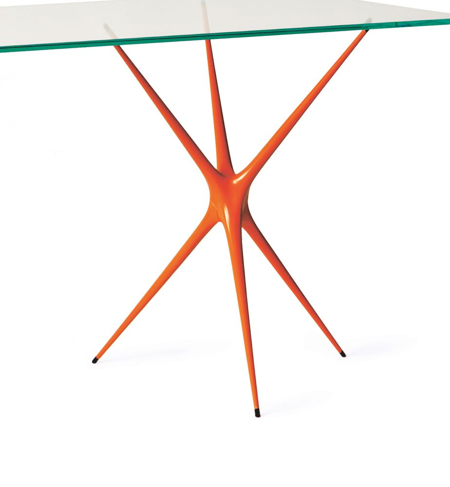 Bright Orange,Made in Ratio,Office Tables & Desks,line,table,triangle