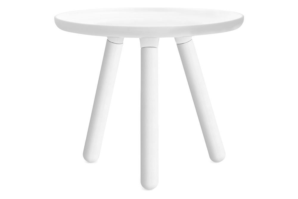 Tablo Round Coffee Table White Top White Ash Legs Small By Normann