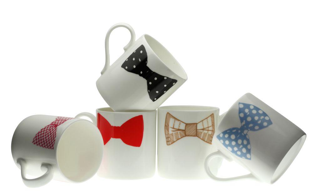The Bow Tie Mug Family by Peter Ibruegger Studio