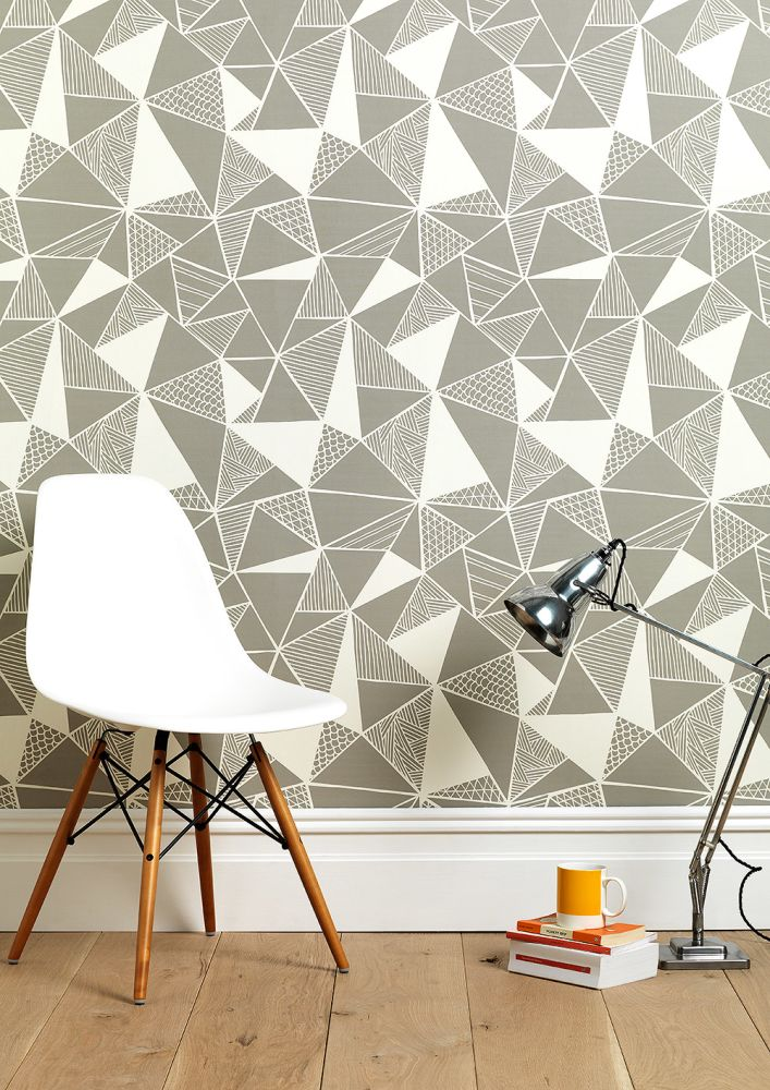 Tress In Grey Wallpaper by Sian Elin