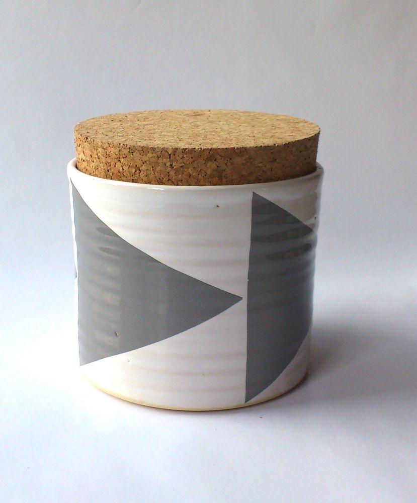 Triangles Tea Jar by Camilla Engdahl
