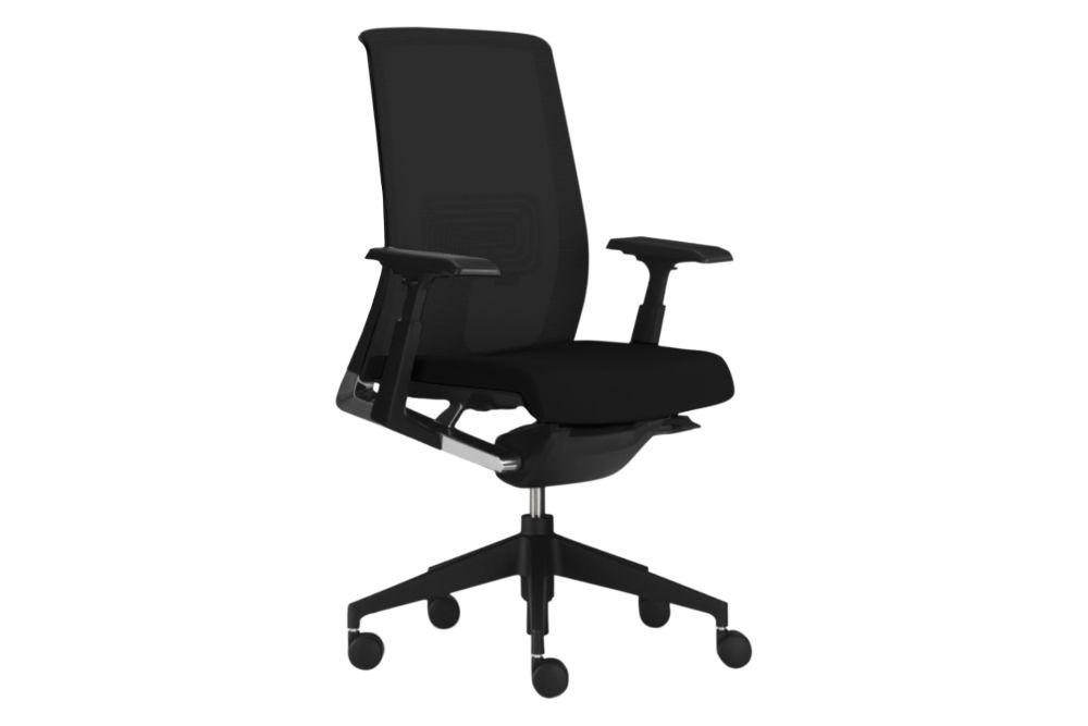 Soft floor, Felicity 34 0014 seat and 48/0201 Black mesh,Haworth,Task Chairs