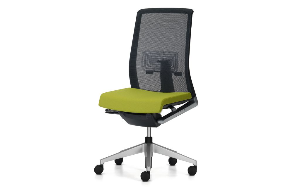F6, Black frame and aluminum structure, hard castor, retardant foam,Haworth,Task Chairs