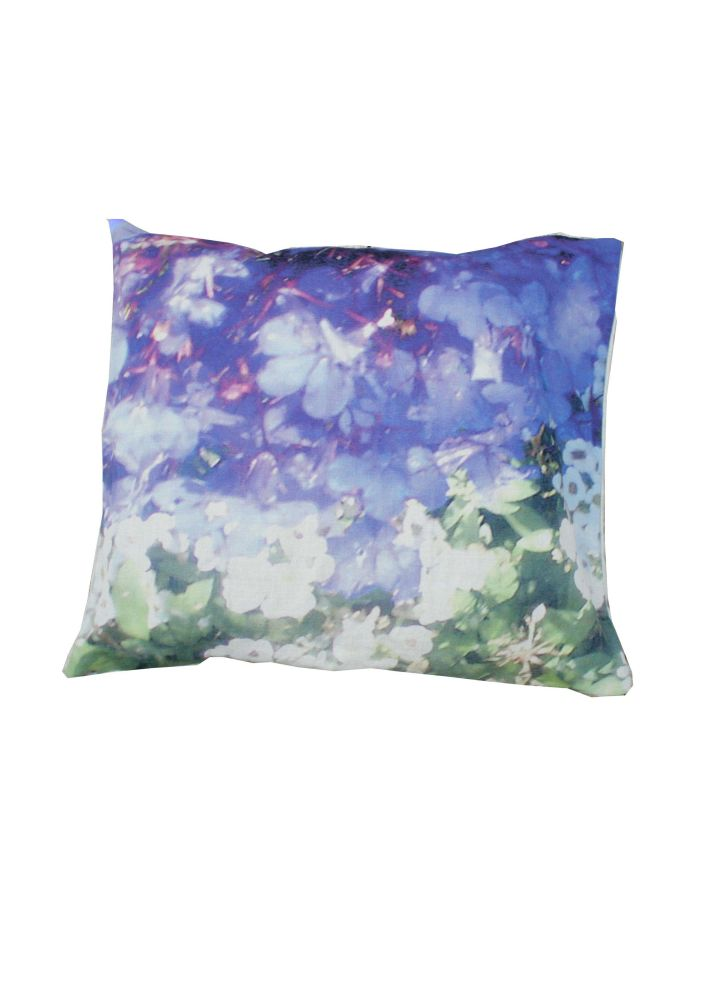 Washed Lilly & Violet Square Cushion by Suzanne Goodwin