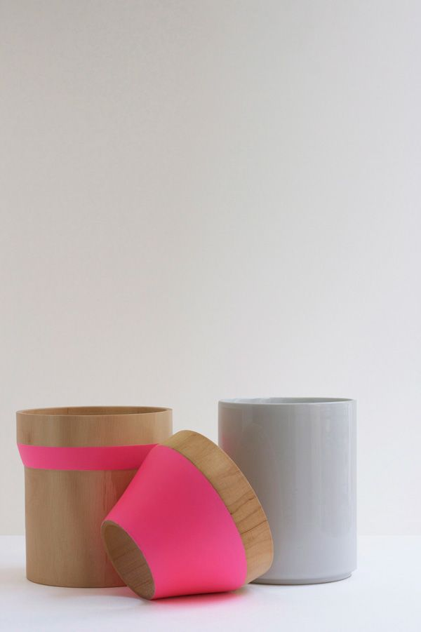 Wood & Ceramic Stacking Vase by ¿adónde?
