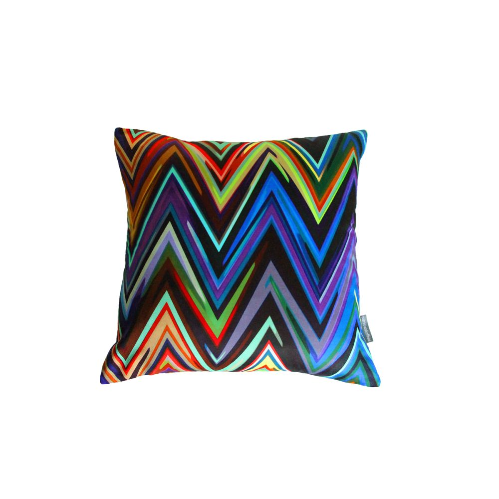 Zig Zag Square Cushion by Parris Wakefield Additions