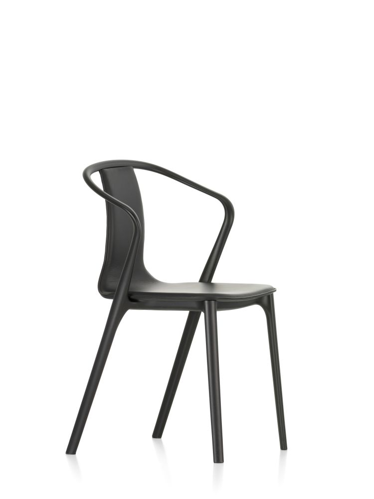 Belleville Armchair with Leather Upholstery by Vitra