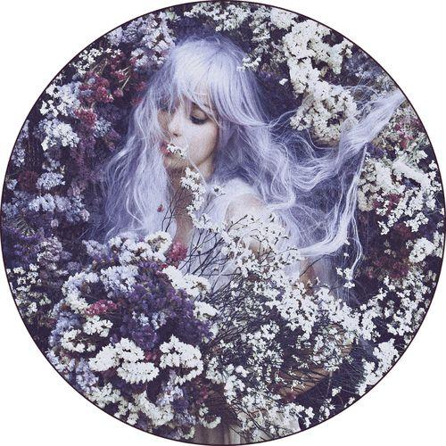 Floral Fantasy Rug,Mineheart,Rugs,illustration,lilac,purple,spring,violet