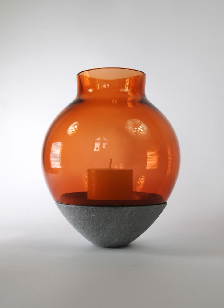Utopia & Utility,Candles & Lanterns,artifact,ceramic,earthenware,orange,pottery,urn,vase