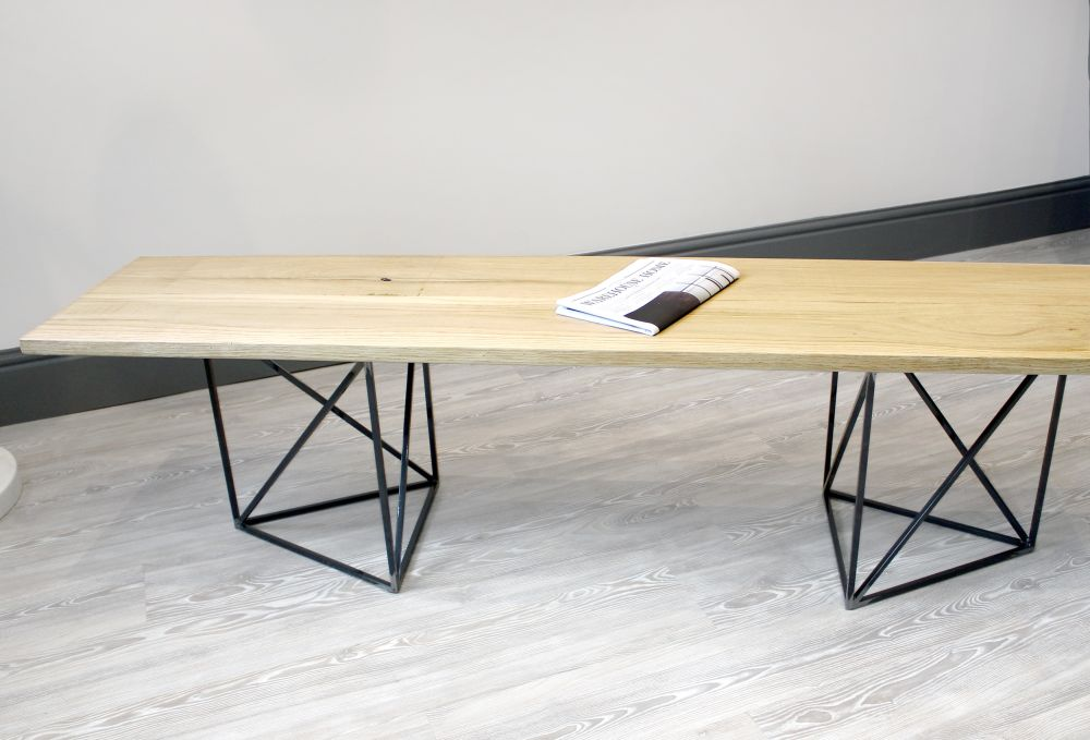 Large,Sapien Studio,Benches,coffee table,desk,furniture,iron,plywood,table,wood,writing desk