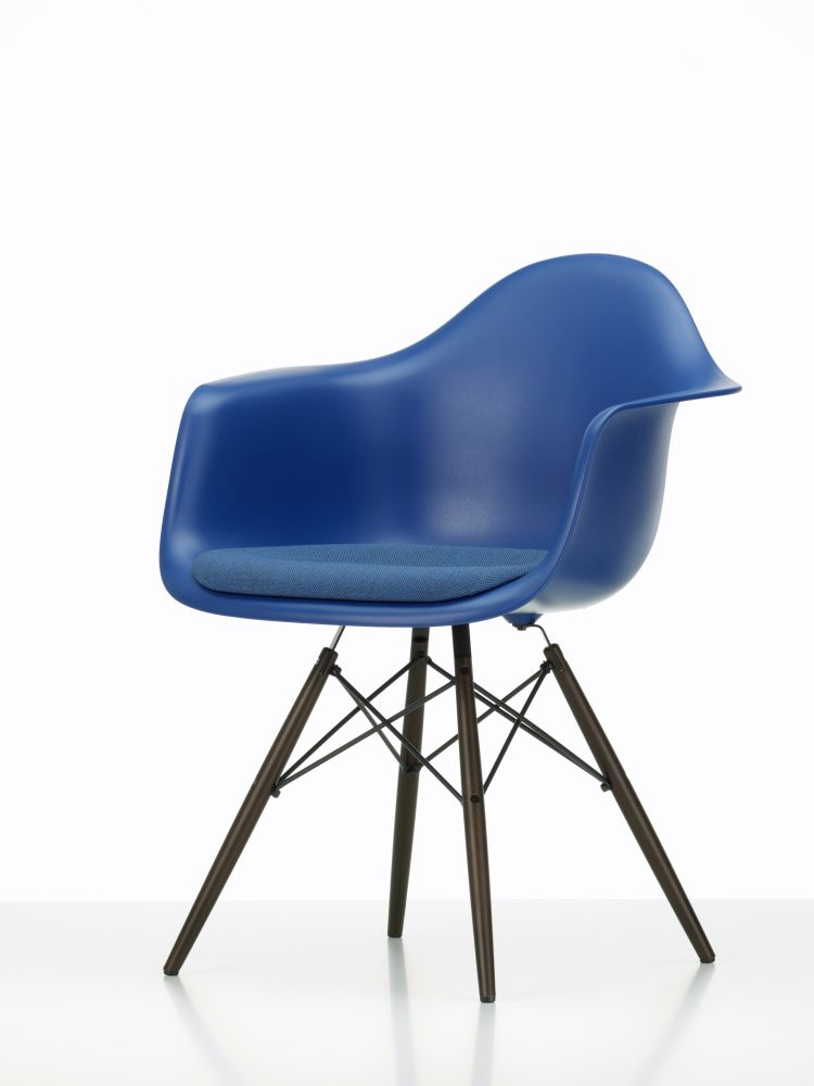 DAW Side Chair with Seat Upholstery by Vitra