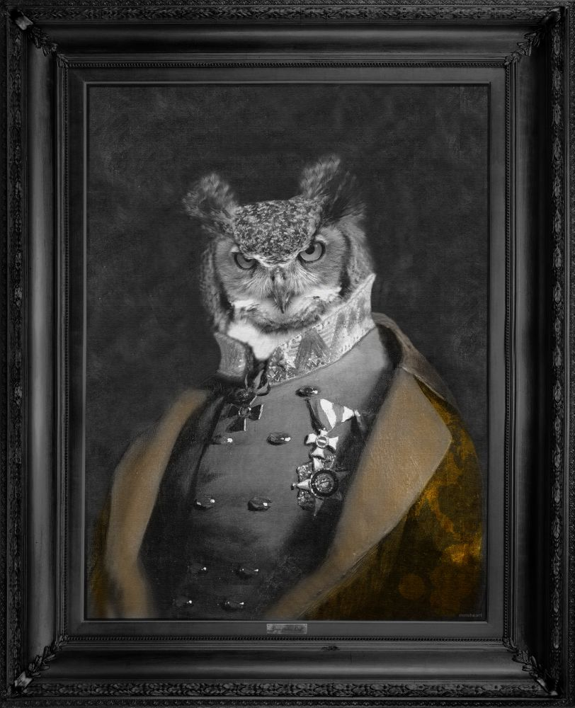 'Grandfather Olaf' - Gold Edition Canvas,Mineheart,Prints & Artwork,painting,picture frame,whiskers