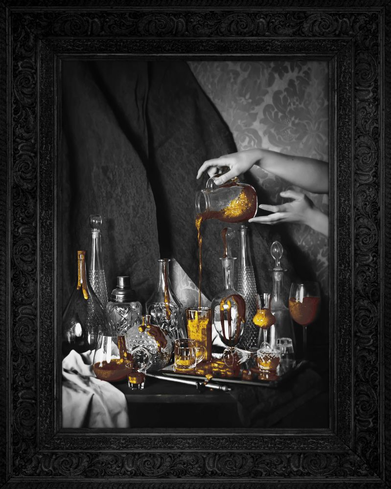 'Still Life' - Gold Edition Canvas by Mineheart