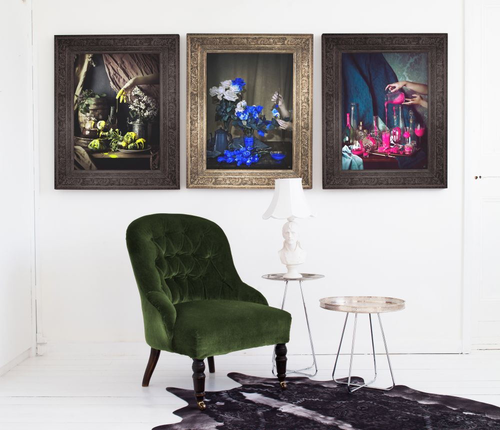 Scent Of Cobalt' Canvas,Mineheart,Prints & Artwork,art,chair,furniture,interior design,modern art,painting,picture frame,purple,room