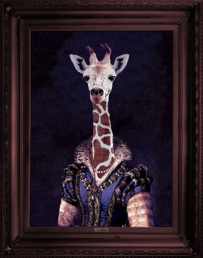 'Dame Giralda' Canvas,Mineheart,Prints & Artwork,giraffe,giraffidae,neck,terrestrial animal,wildlife