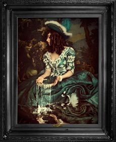 Water is not enough...,Mineheart,Prints & Artwork,art,painting,picture frame,portrait