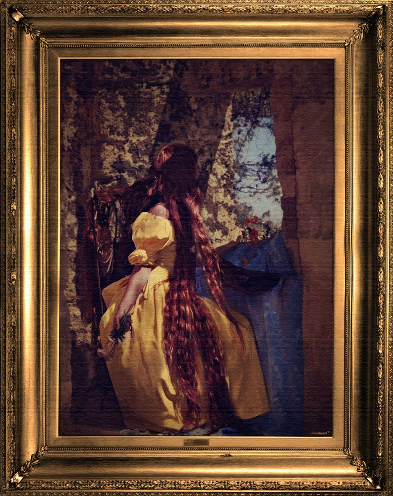 'Rapunzel' Canvas,Mineheart,Prints & Artwork,art,modern art,painting,picture frame,visual arts