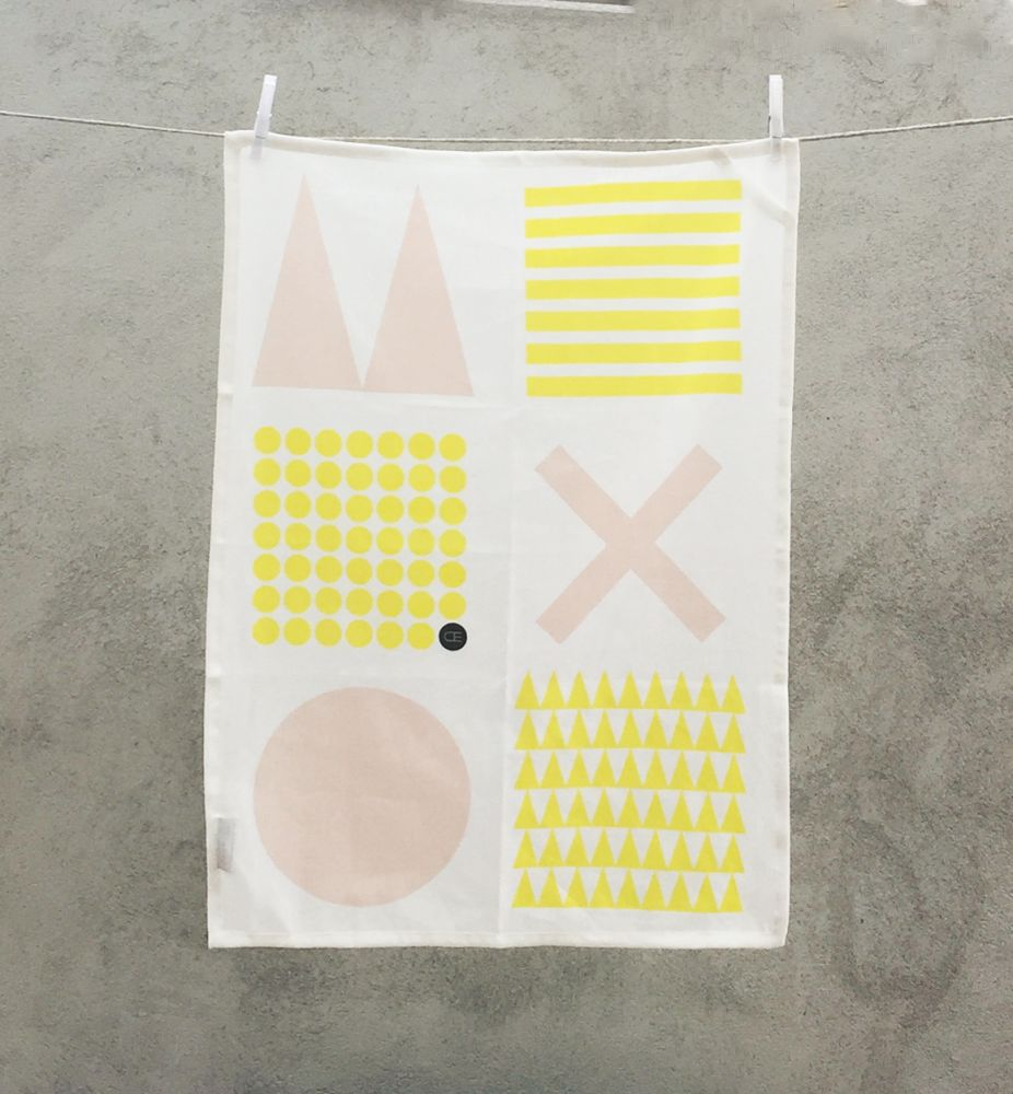 Black and Shade,Camilla Engdahl,Towels,design,pattern,yellow