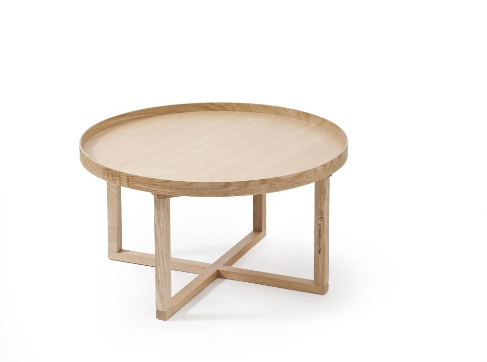 66D Round Table - White/Oak,Wireworks,Coffee & Side Tables,coffee table,furniture,outdoor table,stool,table