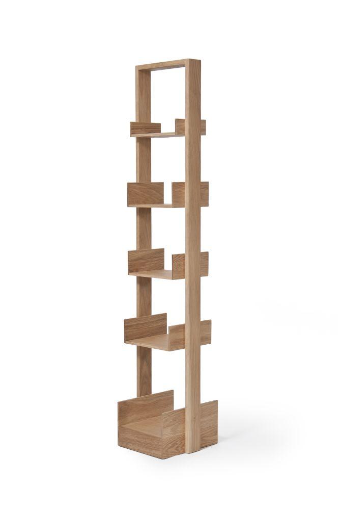 Bookie 5 shelf - Oak,Wireworks,Bookcases & Shelves,furniture,shelf,shelving