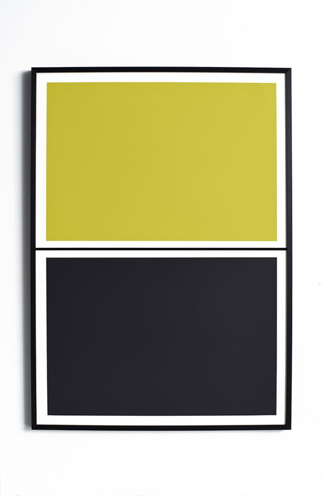 Twin Tone Play Screen Print - Soot Black & Yuzu Yellow by Lane