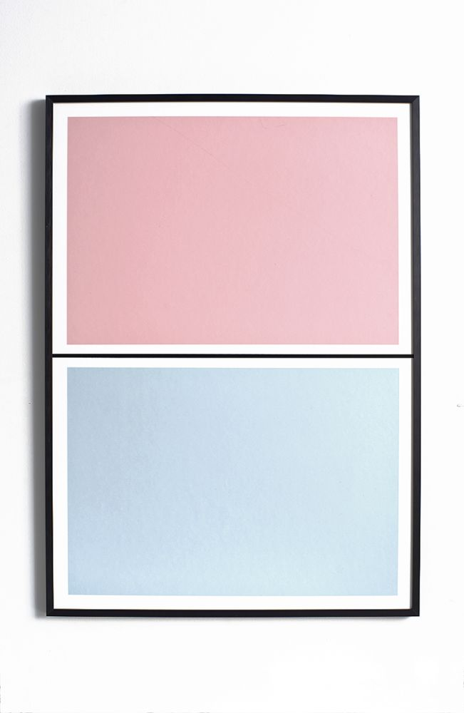 Twin Tone Play Screen Print - Granite Pink & Drift Blue by Lane