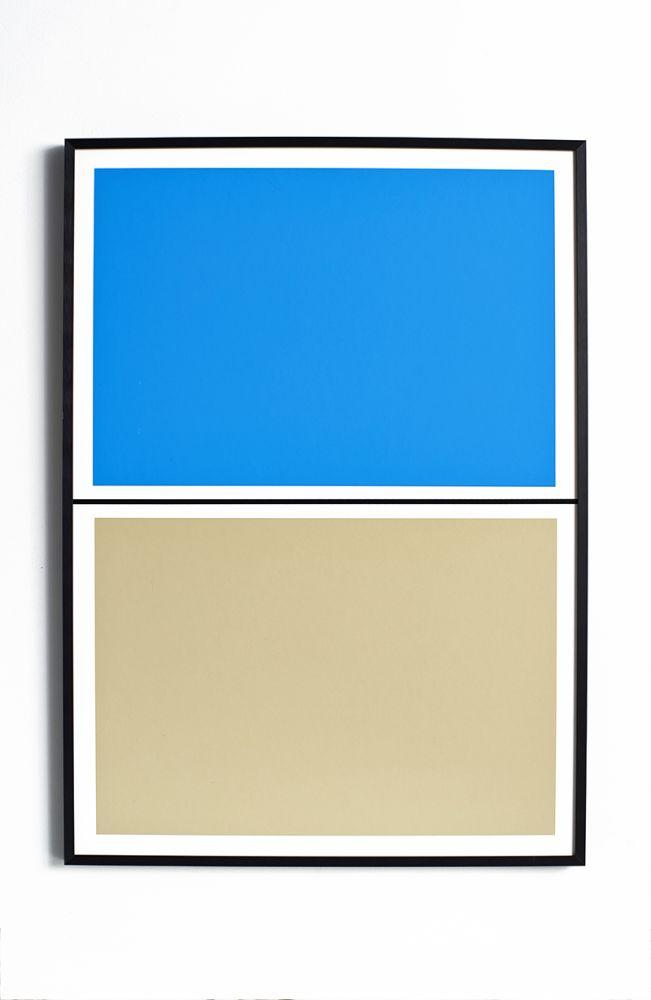 Twin Tone Play Screen Print - Pool Blue and Beach by Lane