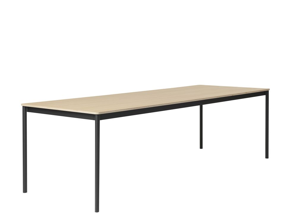 White Laminate Top, White ABS Edge, White Base, 140 x 70,Muuto,Dining Tables,desk,furniture,line,outdoor table,rectangle,sofa tables,table