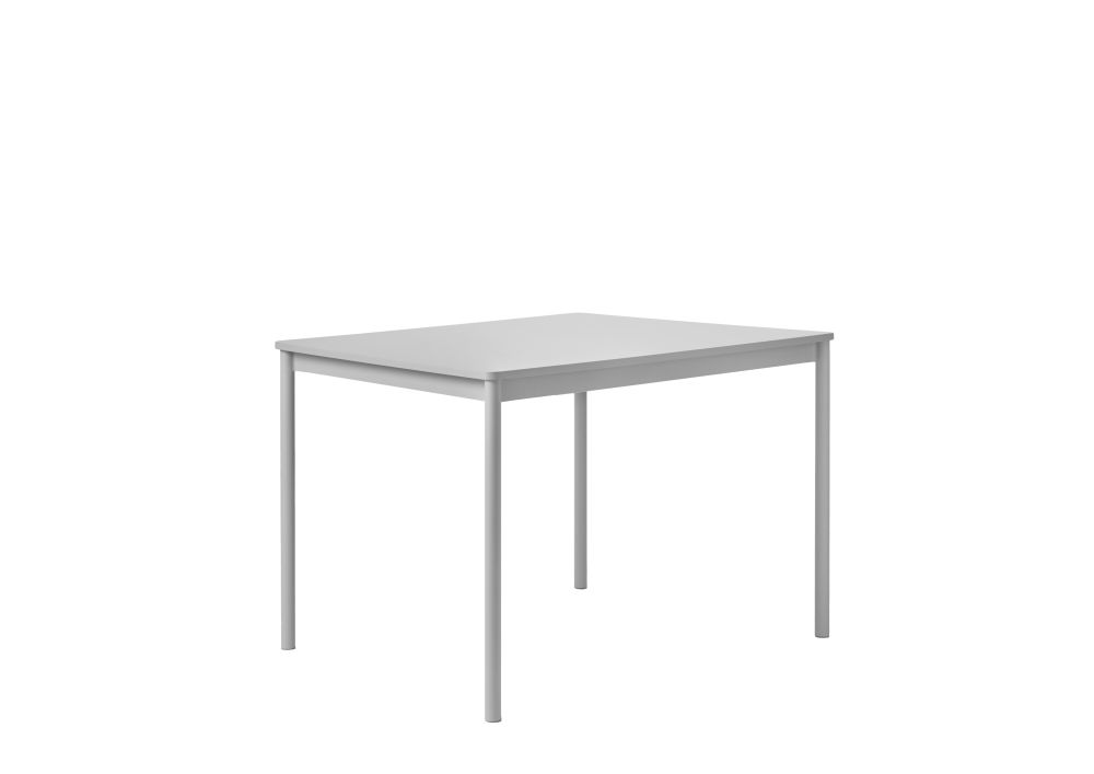 Oak Veneer Top, Plywood Edge, Black Base, 128x128,Muuto,Dining Tables,coffee table,desk,end table,furniture,outdoor table,rectangle,sofa tables,table