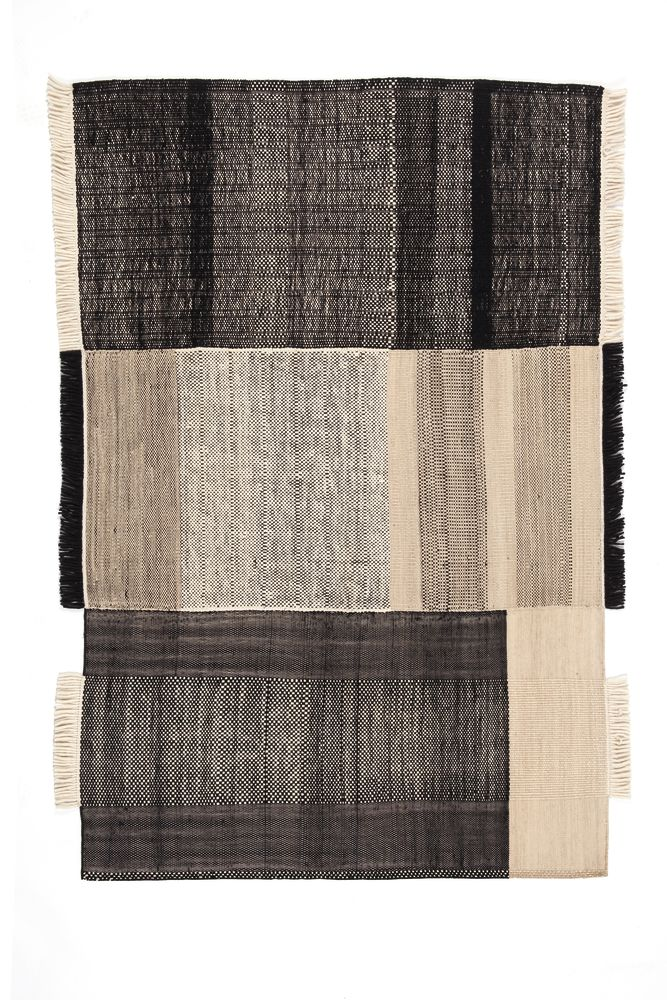 Salvia, 300x400cm,Nanimarquina,Workplace Rugs,beige,brown,linens,patchwork,pattern,placemat,plaid,rectangle,textile
