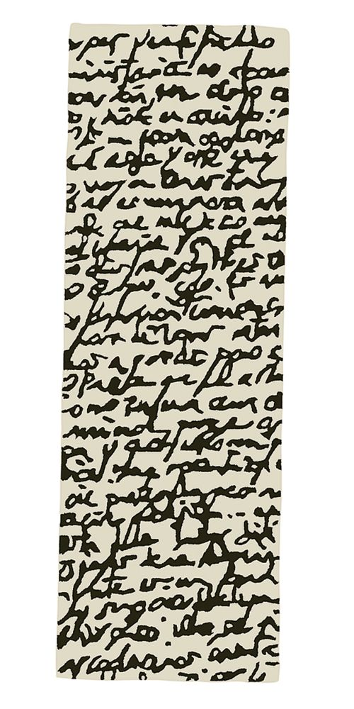 Black on white Rug - Manuscrit by Nanimarquina