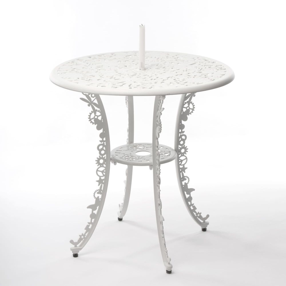 White,Seletti,Coffee & Side Tables,coffee table,end table,furniture,iron,outdoor furniture,outdoor table,table