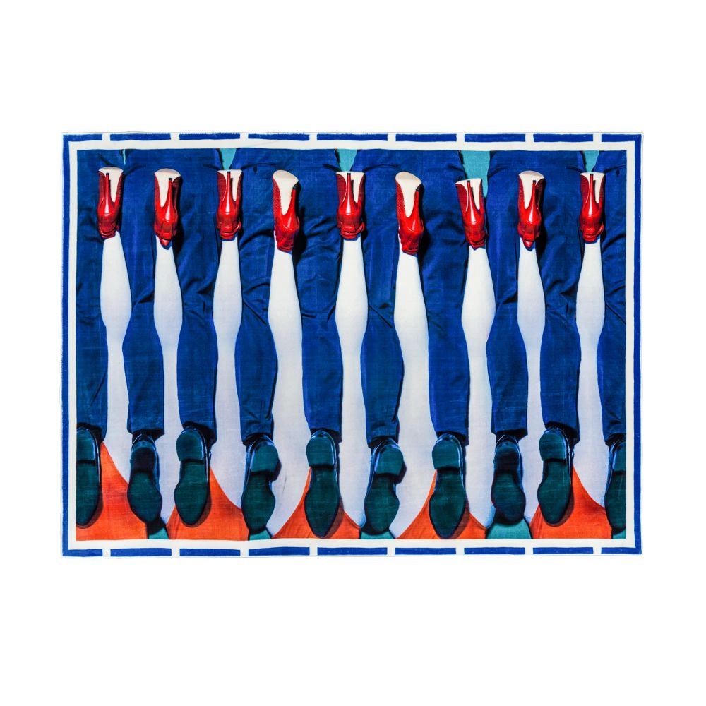 Toiletpaper Legs Rectangular Rug by Seletti