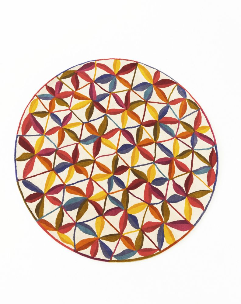 Ø125 cm,Nanimarquina,Rugs,circle,orange,pattern,triangle