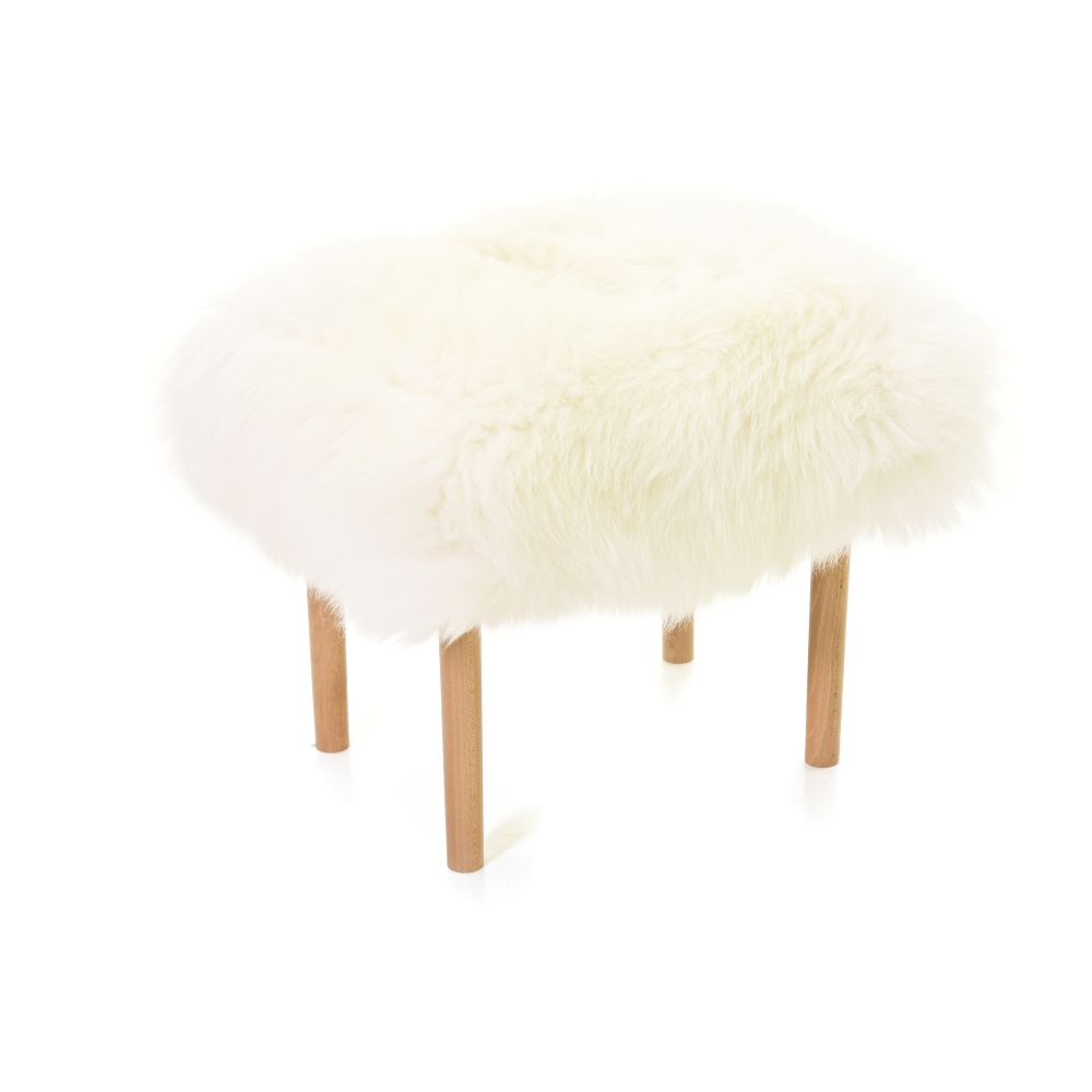 Carys - Sheepskin Footstool  by Baa Stool