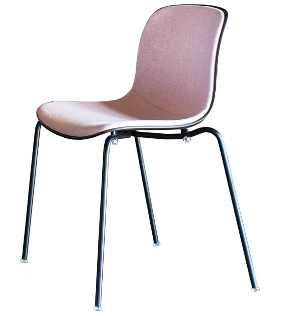 Troy Stacking Chair - 4 Legs, Front Covered - Set of 2 by Magis Design
