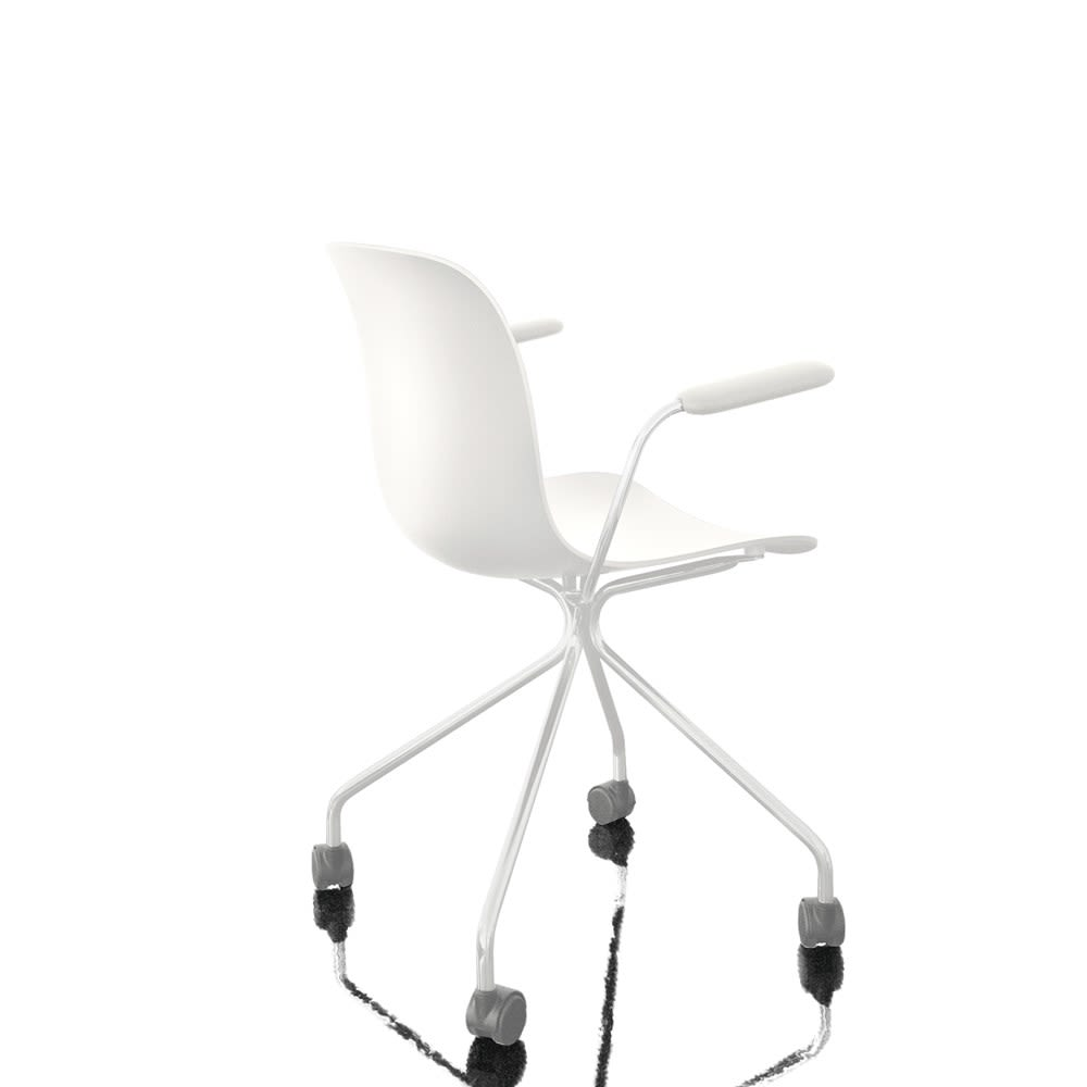 Chromed Frame, White Seat,Magis,Office Chairs,chair,furniture,line,office chair,product,white