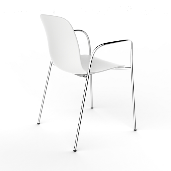 Chrome Frame, White Seat,Magis,Armchairs,chair,design,furniture,table