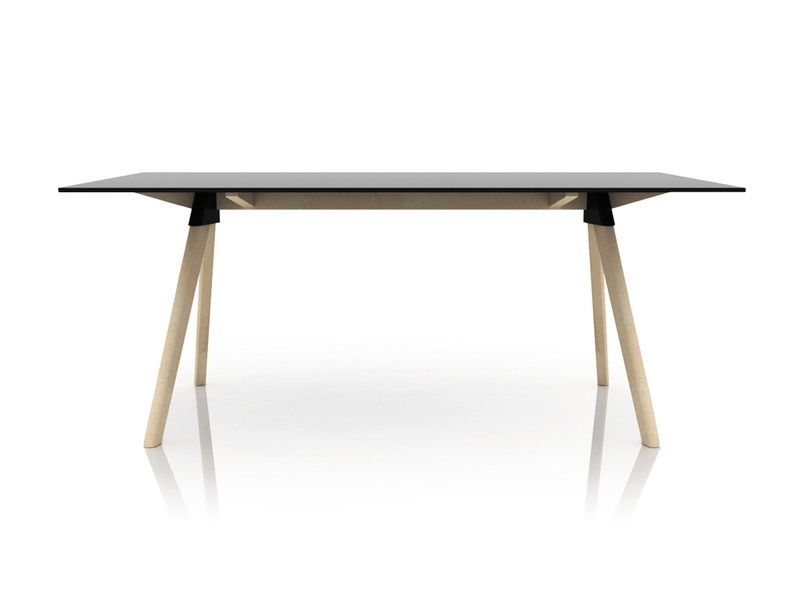Natural Frame, White Joint and Top, 180x90cm,Magis Design,Dining Tables,desk,furniture,outdoor table,plywood,rectangle,table