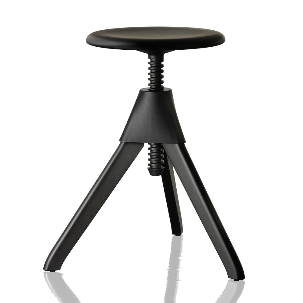 Natural Seat and Frame, Matt White Joint and Screw,Magis Design,Stools,bar stool,furniture,stool