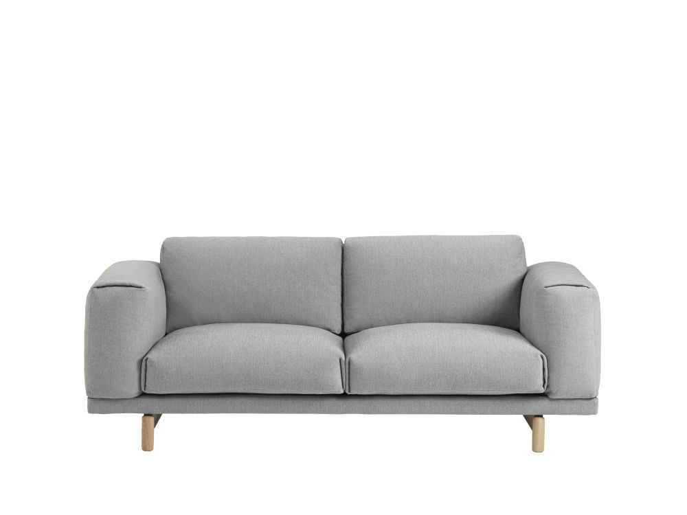 Wondrous Rest 2 Seater Sofa Remix 2 163 Black By Muuto Clippings Interior Design Ideas Inamawefileorg